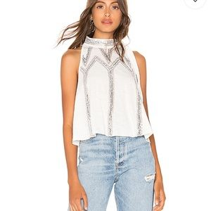 Free people glitter city top in white